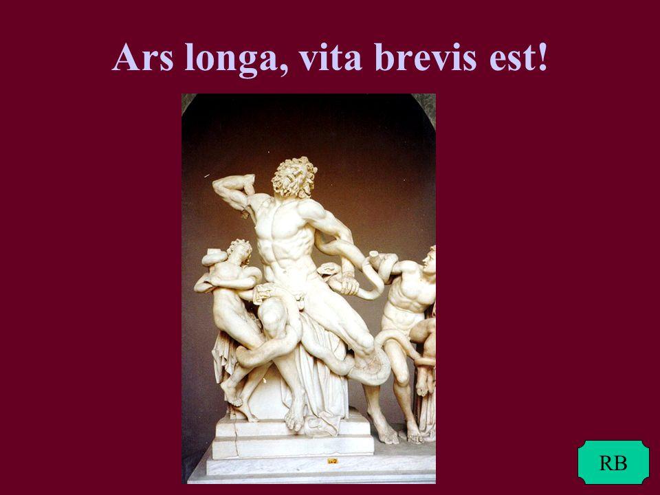 Ars longa, vita brevis est!