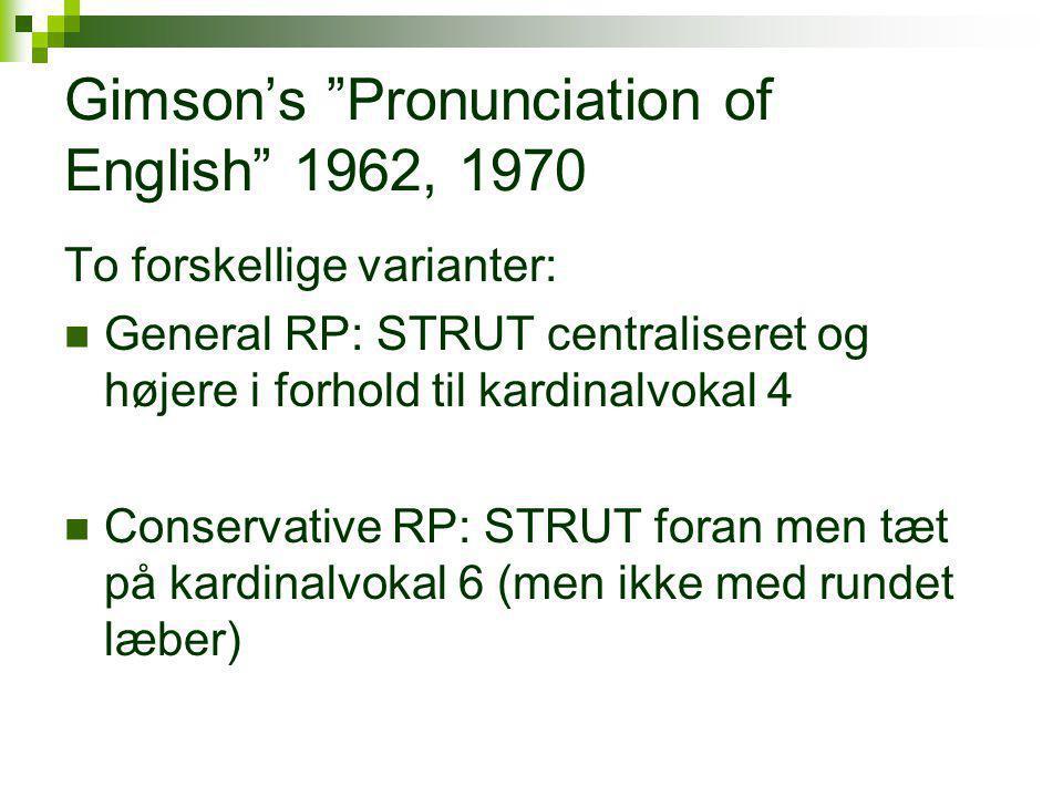 Gimson's Pronunciation of English 1962, 1970