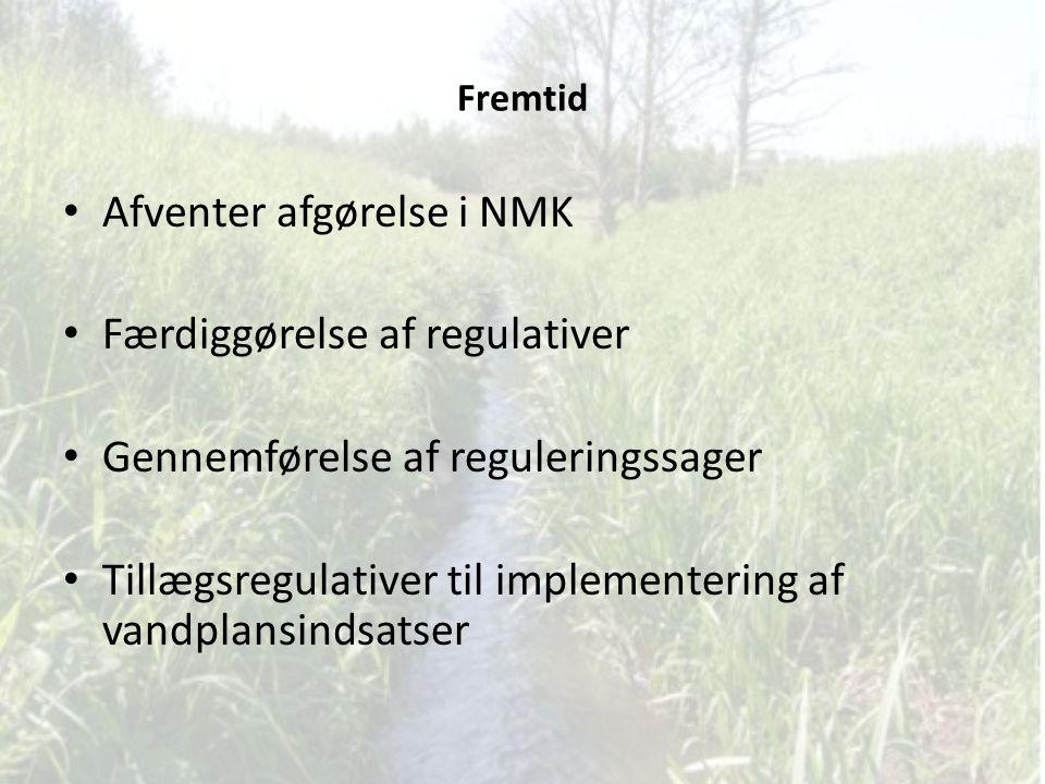 Afventer afgørelse i NMK Færdiggørelse af regulativer