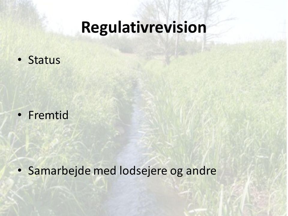 Regulativrevision Status Fremtid Samarbejde med lodsejere og andre