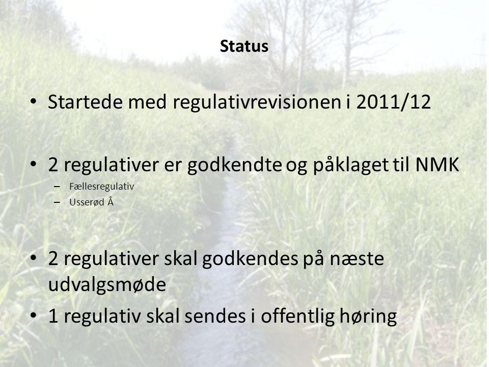 Startede med regulativrevisionen i 2011/12