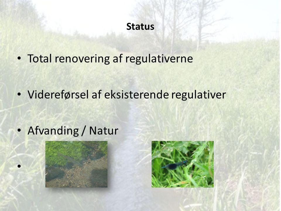 Total renovering af regulativerne