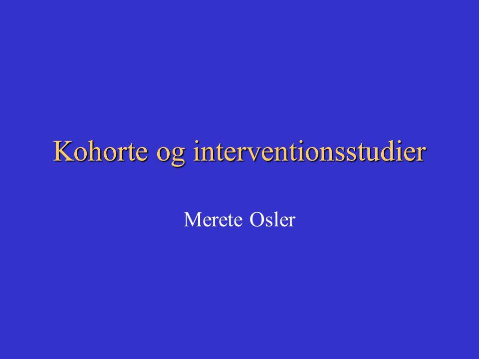 Kohorte og interventionsstudier