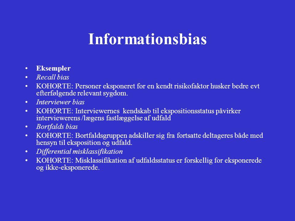 Informationsbias Eksempler Recall bias