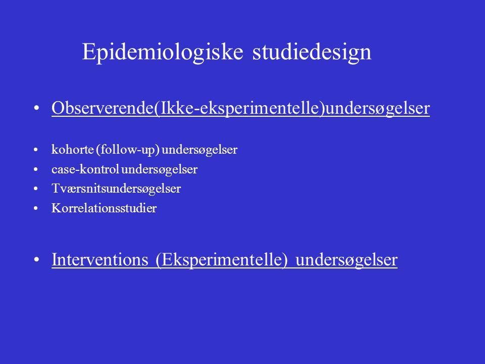 Epidemiologiske studiedesign