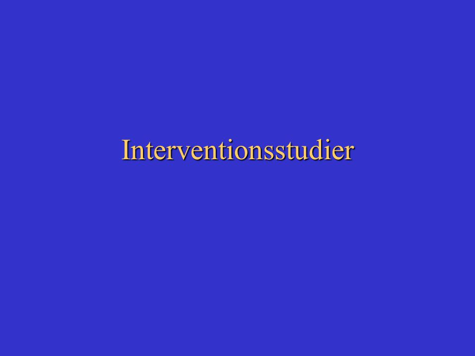 Interventionsstudier