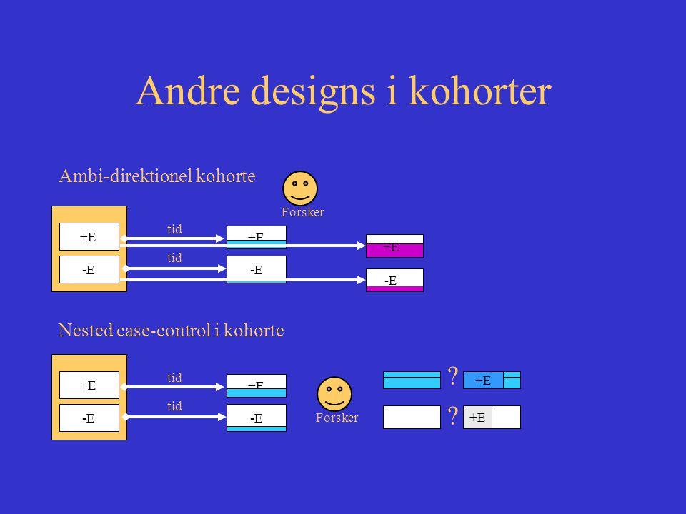 Andre designs i kohorter