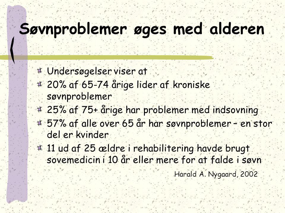 Søvnproblemer øges med alderen