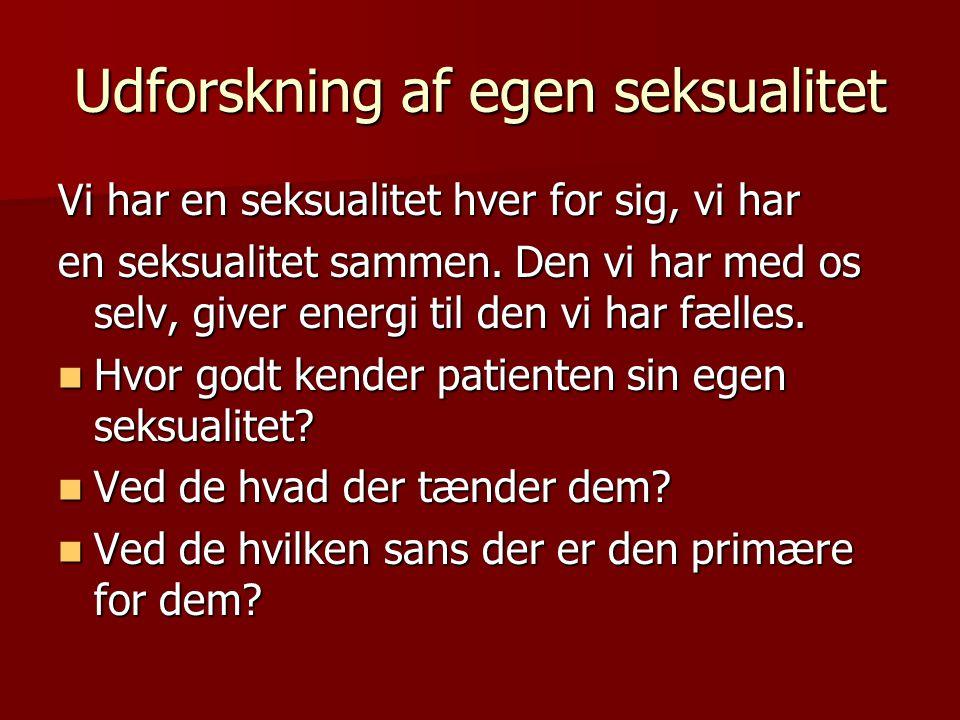 Udforskning af egen seksualitet