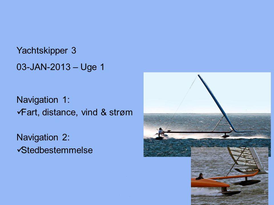 Fart, distance, vind & strøm Navigation 2: Stedbestemmelse