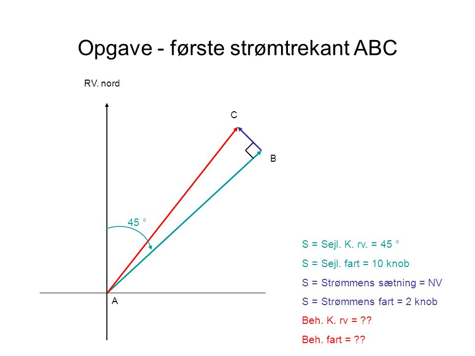 Opgave - første strømtrekant ABC
