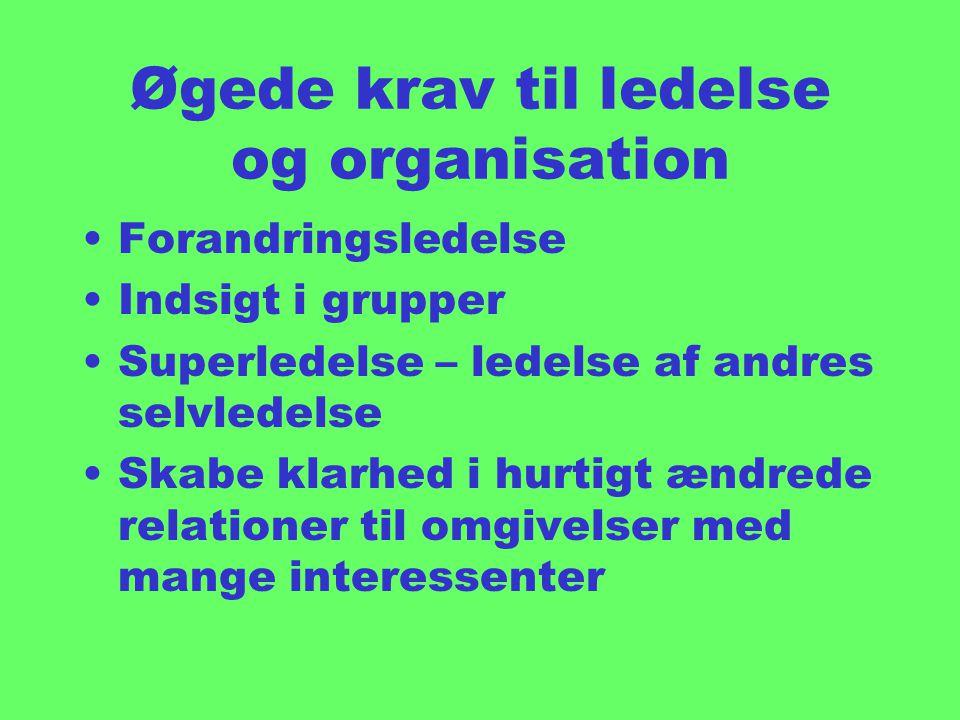 Øgede krav til ledelse og organisation