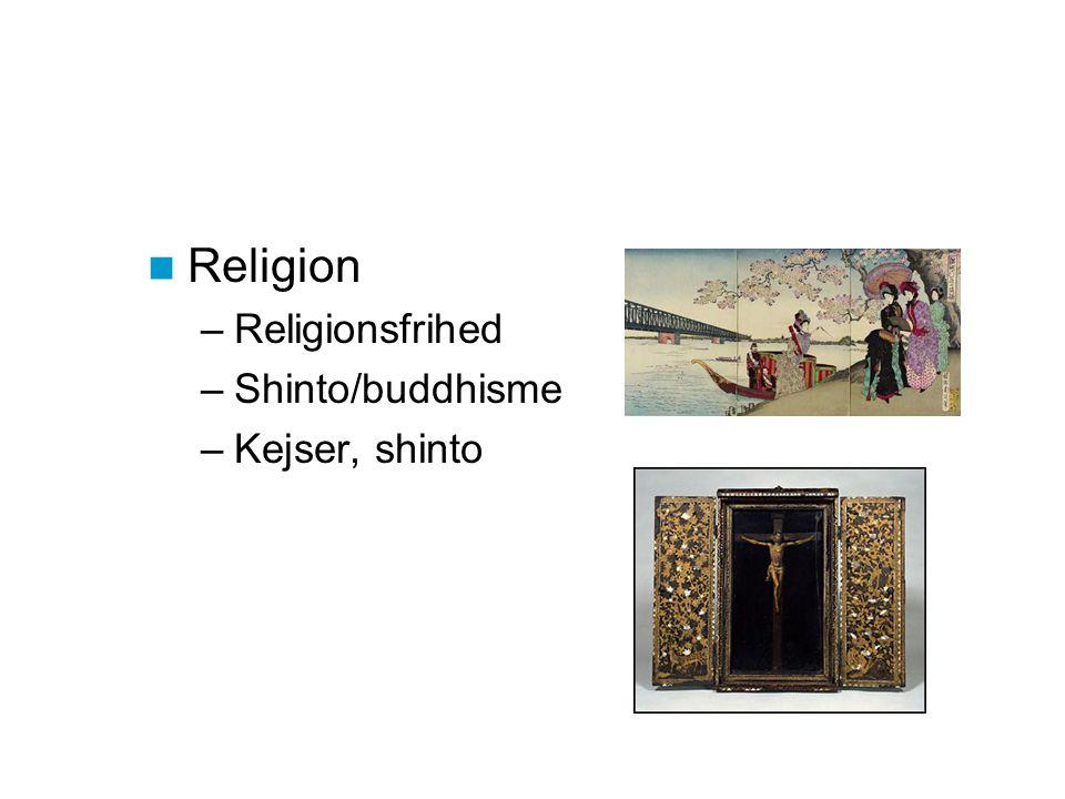 Religion Religionsfrihed Shinto/buddhisme Kejser, shinto
