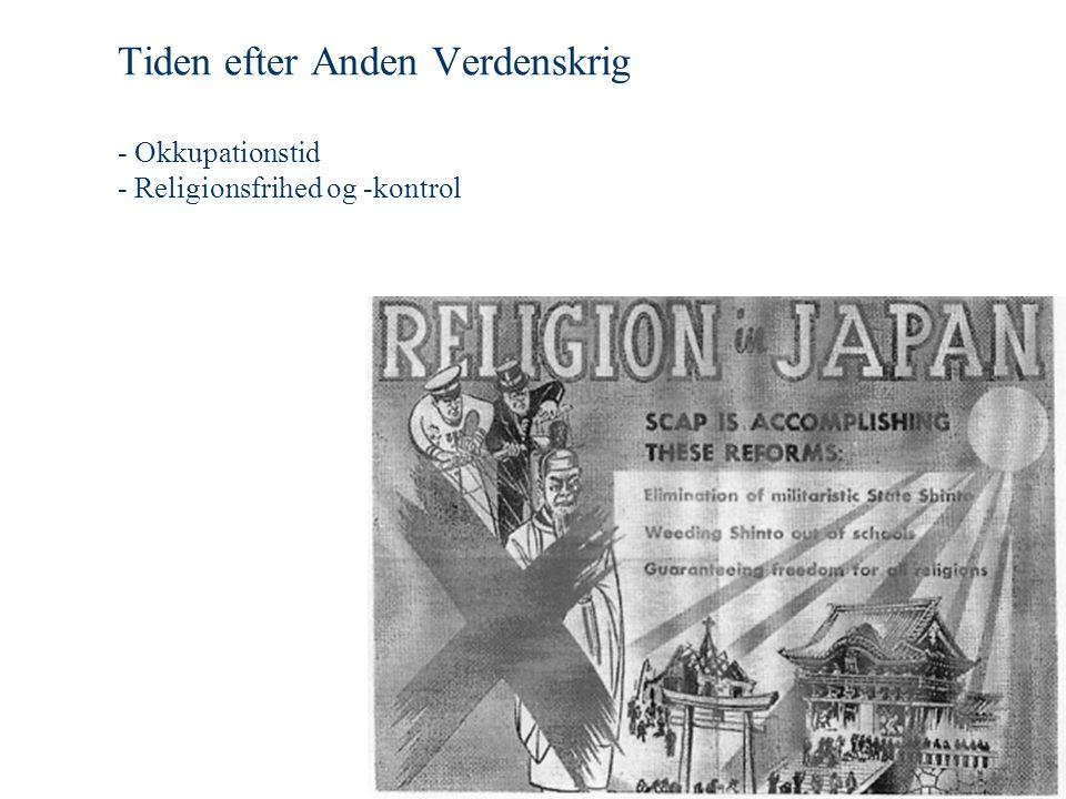 Tiden efter Anden Verdenskrig - Okkupationstid - Religionsfrihed og -kontrol