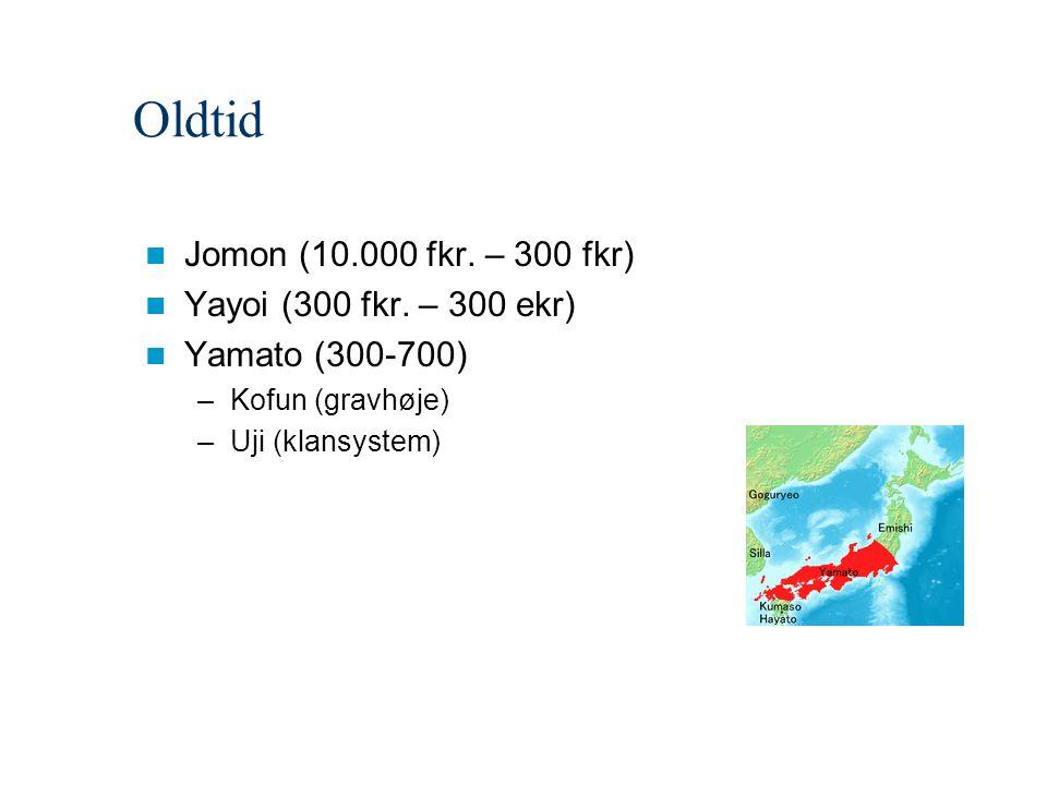 Oldtid Jomon (10.000 fkr. – 300 fkr) Yayoi (300 fkr. – 300 ekr)