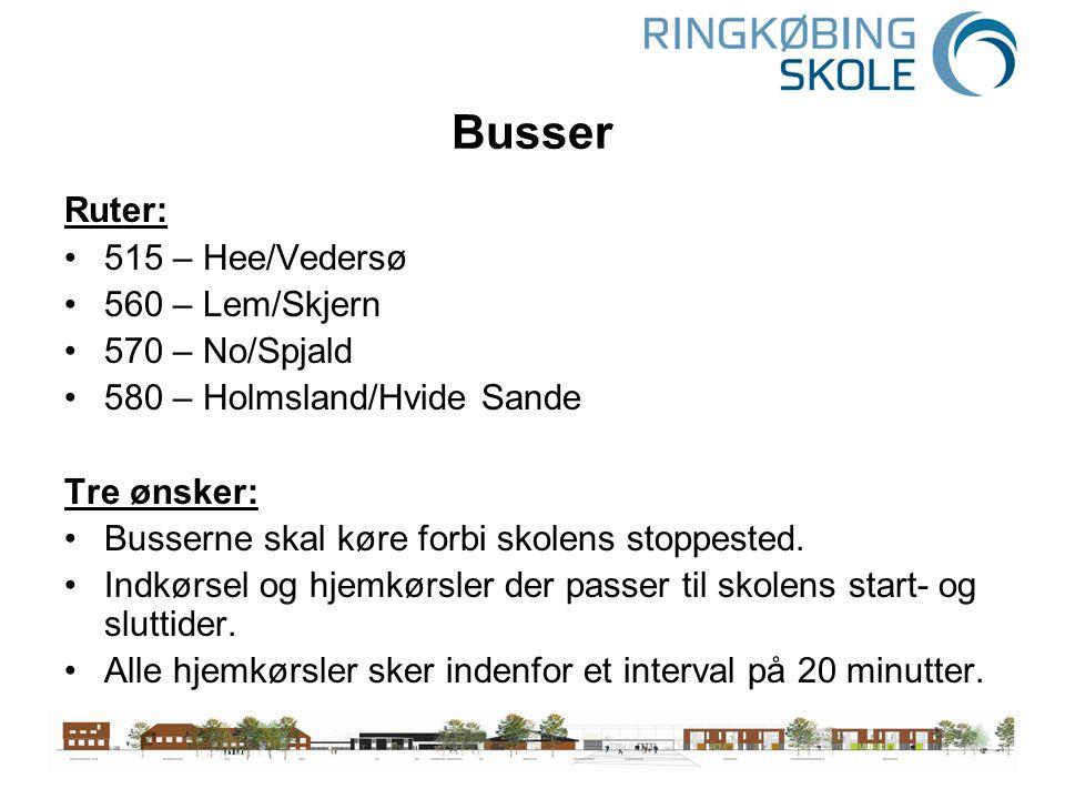 Busser Ruter: 515 – Hee/Vedersø 560 – Lem/Skjern 570 – No/Spjald