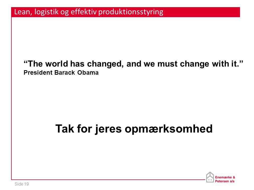 Lean, logistik og effektiv produktionsstyring