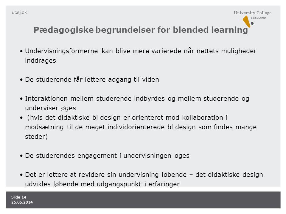 Pædagogiske begrundelser for blended learning