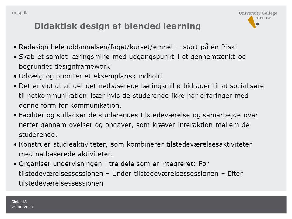 Didaktisk design af blended learning