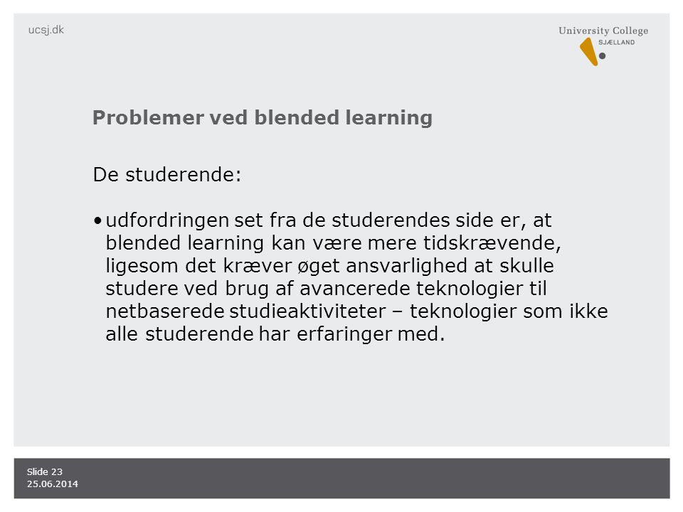Problemer ved blended learning