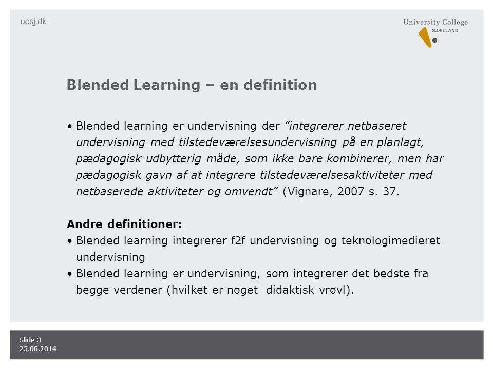 Blended Learning – en definition