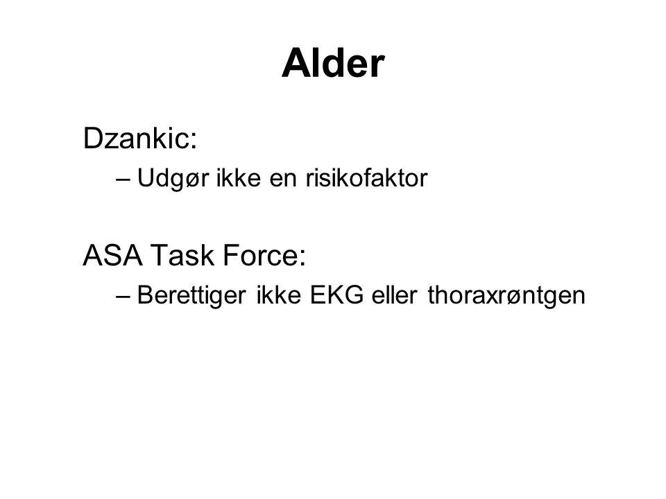 Alder Dzankic: ASA Task Force: Udgør ikke en risikofaktor