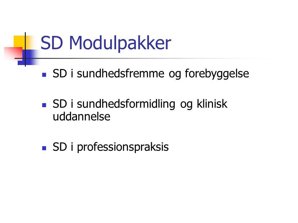 SD Modulpakker SD i sundhedsfremme og forebyggelse