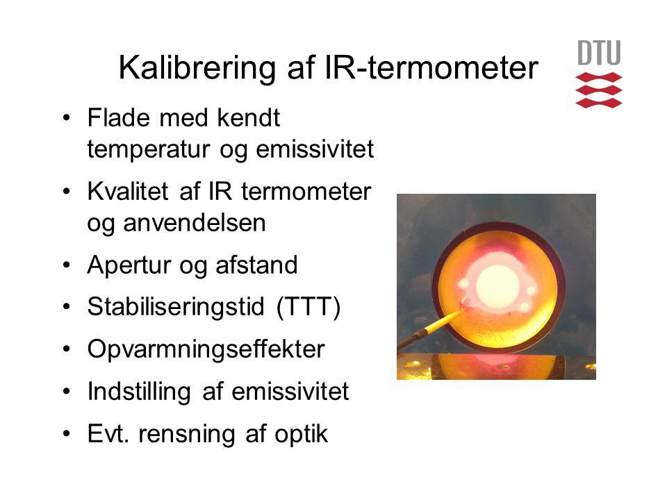 Kalibrering af IR-termometer