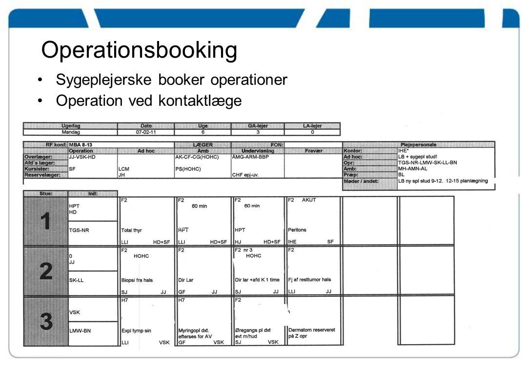 Operationsbooking Sygeplejerske booker operationer