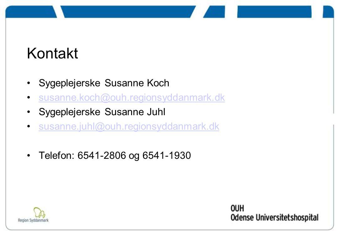 Kontakt Sygeplejerske Susanne Koch