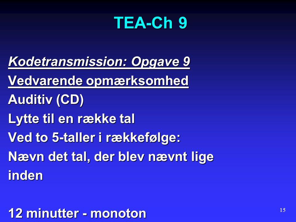 TEA-Ch 9 Kodetransmission: Opgave 9 Vedvarende opmærksomhed