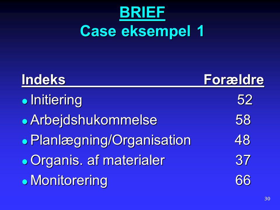BRIEF Case eksempel 1 Indeks Forældre Initiering 52