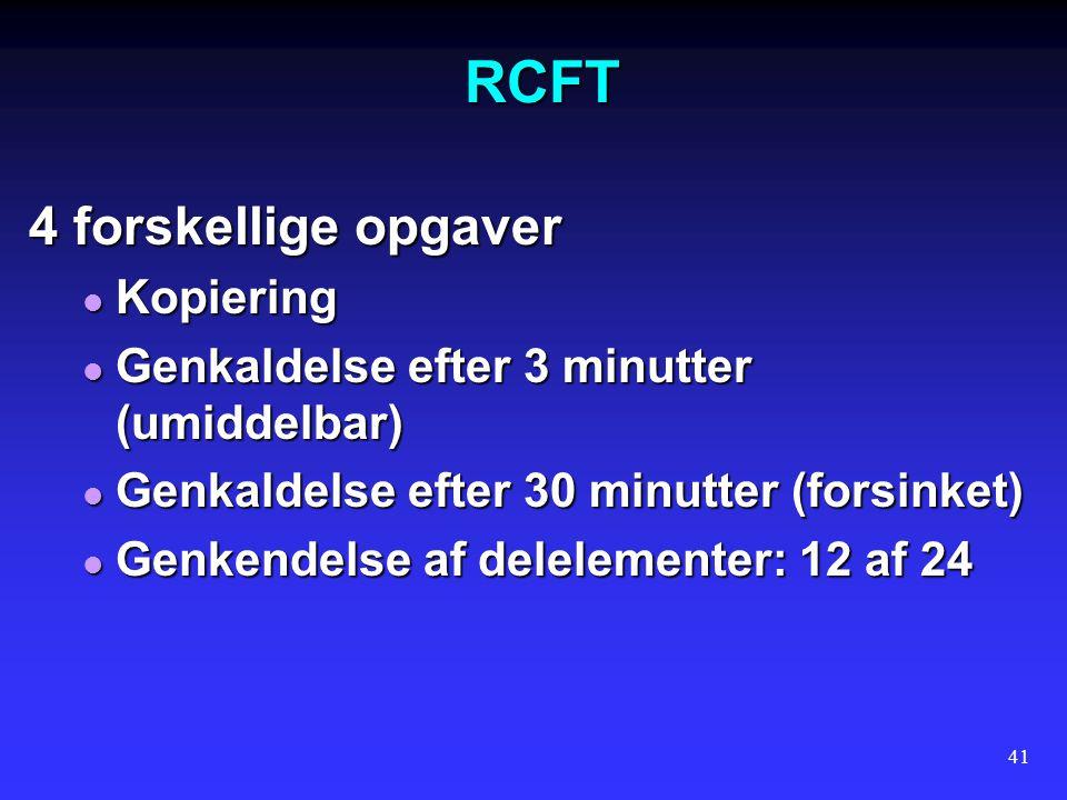 RCFT 4 forskellige opgaver Kopiering