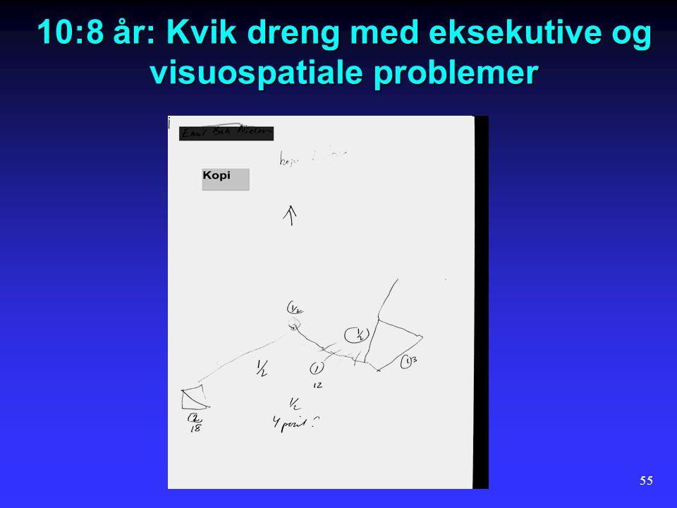 10:8 år: Kvik dreng med eksekutive og visuospatiale problemer