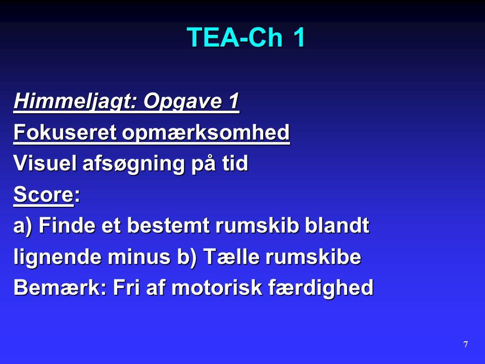 TEA-Ch 1 Himmeljagt: Opgave 1 Fokuseret opmærksomhed