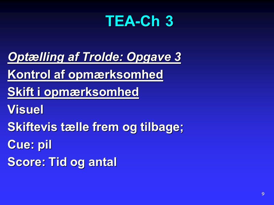 TEA-Ch 3 Optælling af Trolde: Opgave 3 Kontrol af opmærksomhed