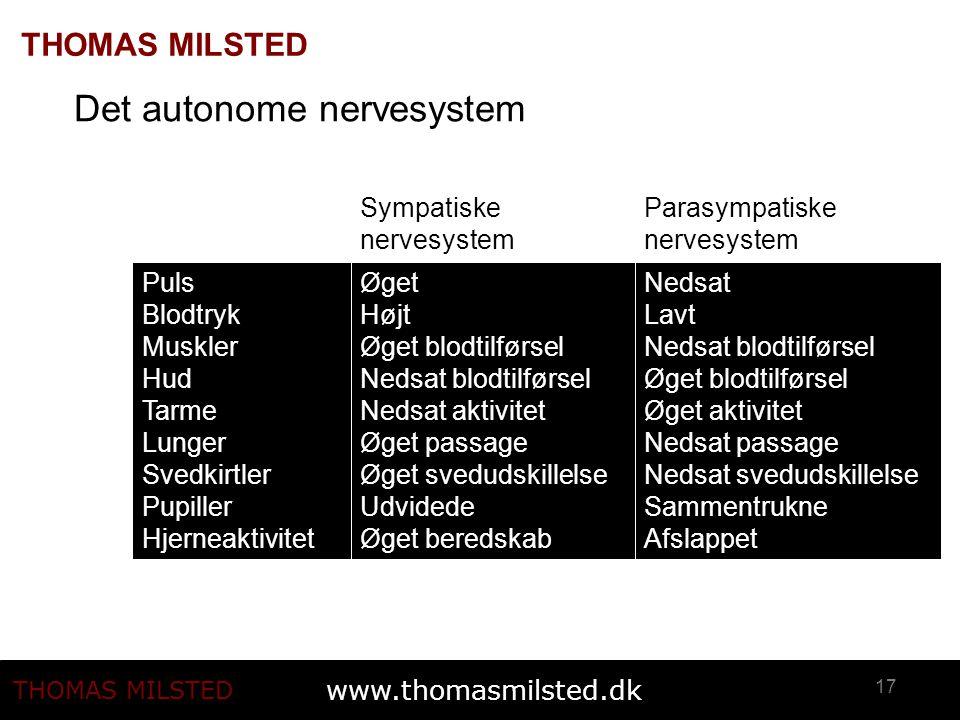 Det autonome nervesystem