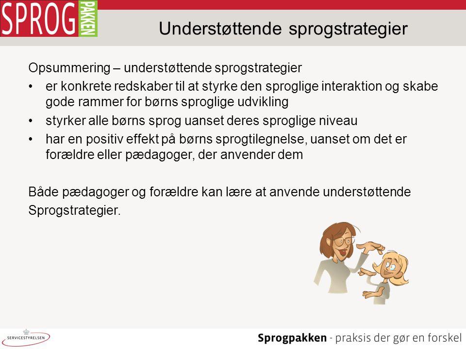 Understøttende sprogstrategier