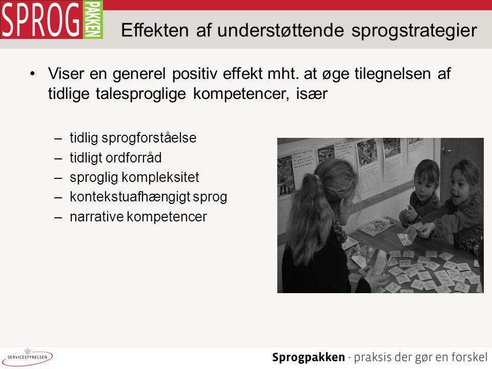 Effekten af understøttende sprogstrategier