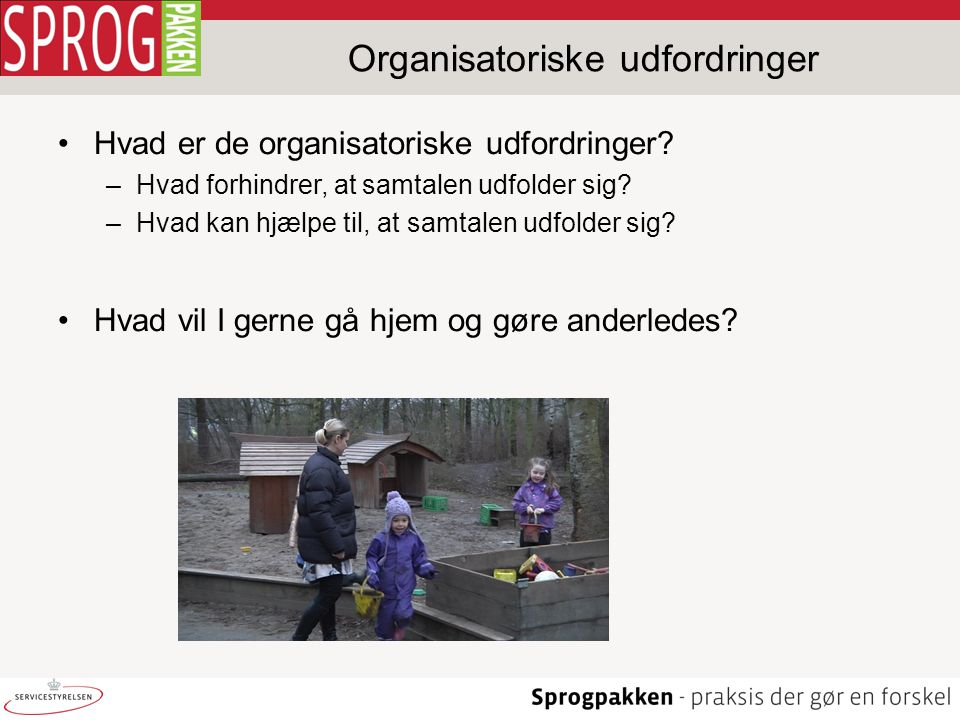 Organisatoriske udfordringer