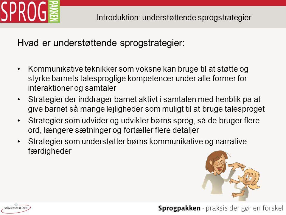 Introduktion: understøttende sprogstrategier