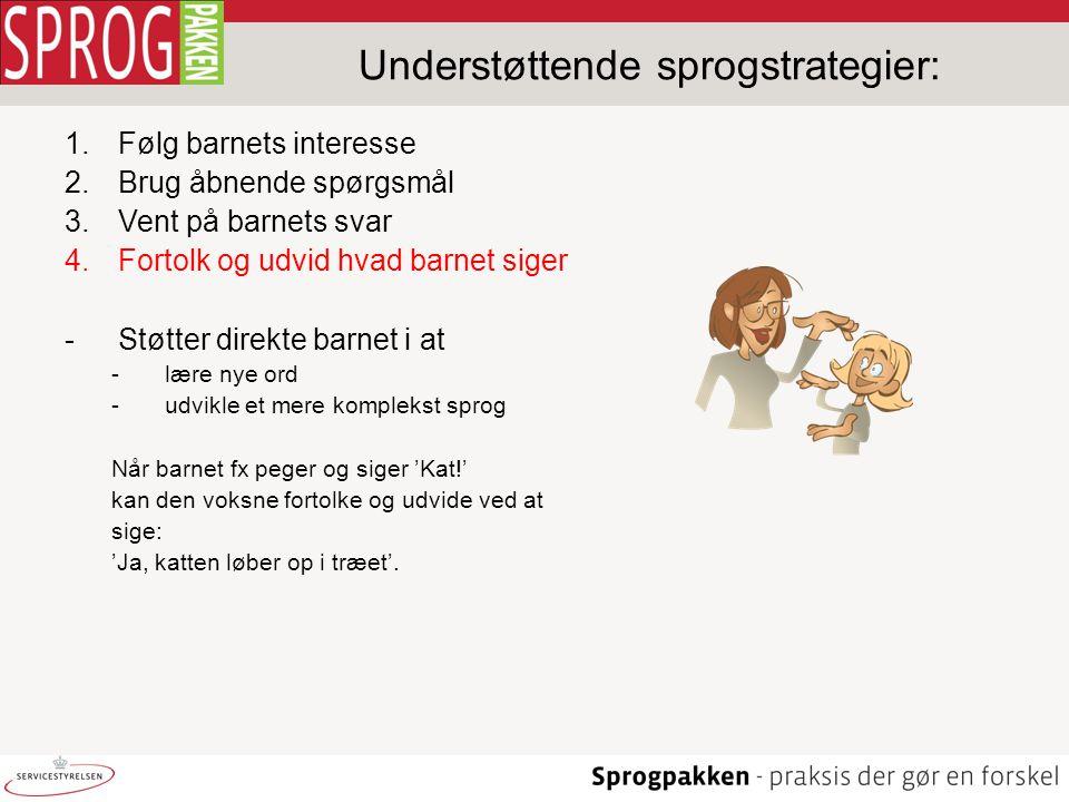 Understøttende sprogstrategier: