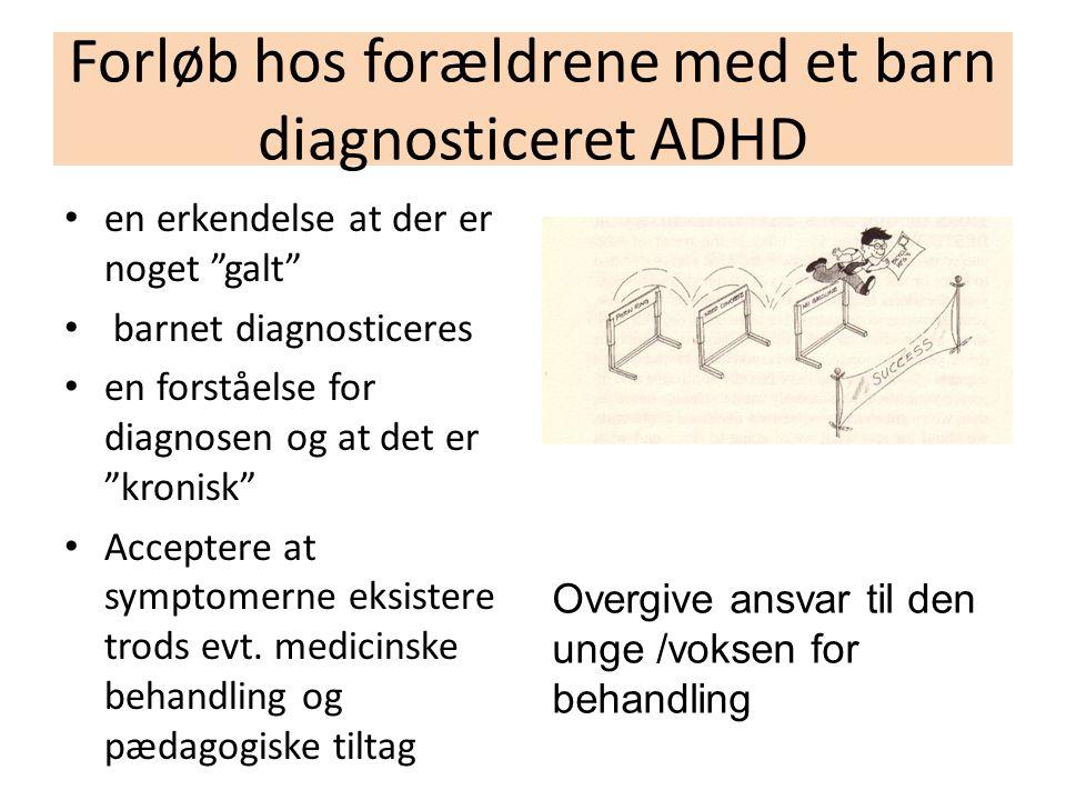 Forløb hos forældrene med et barn diagnosticeret ADHD