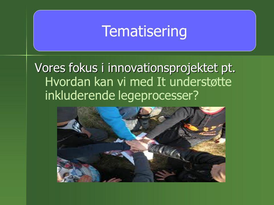 Tematisering Vores fokus i innovationsprojektet pt.