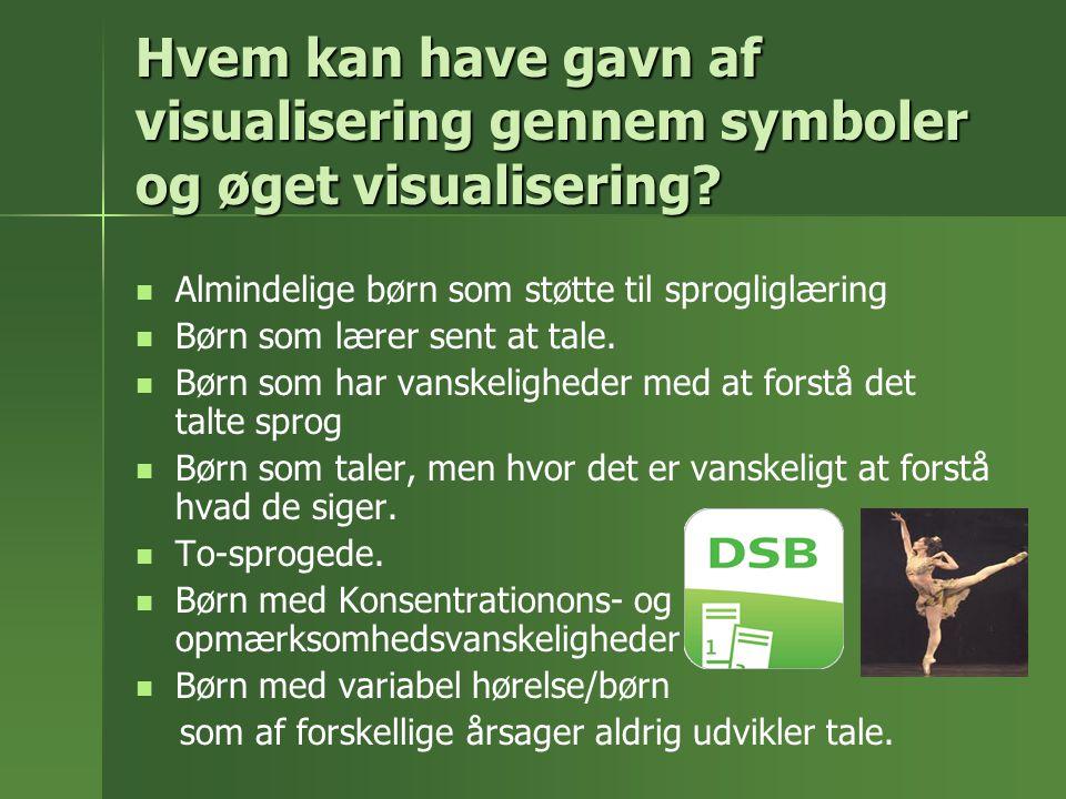 Hvem kan have gavn af visualisering gennem symboler og øget visualisering