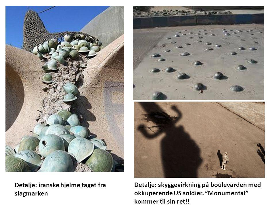 Detalje: iranske hjelme taget fra slagmarken