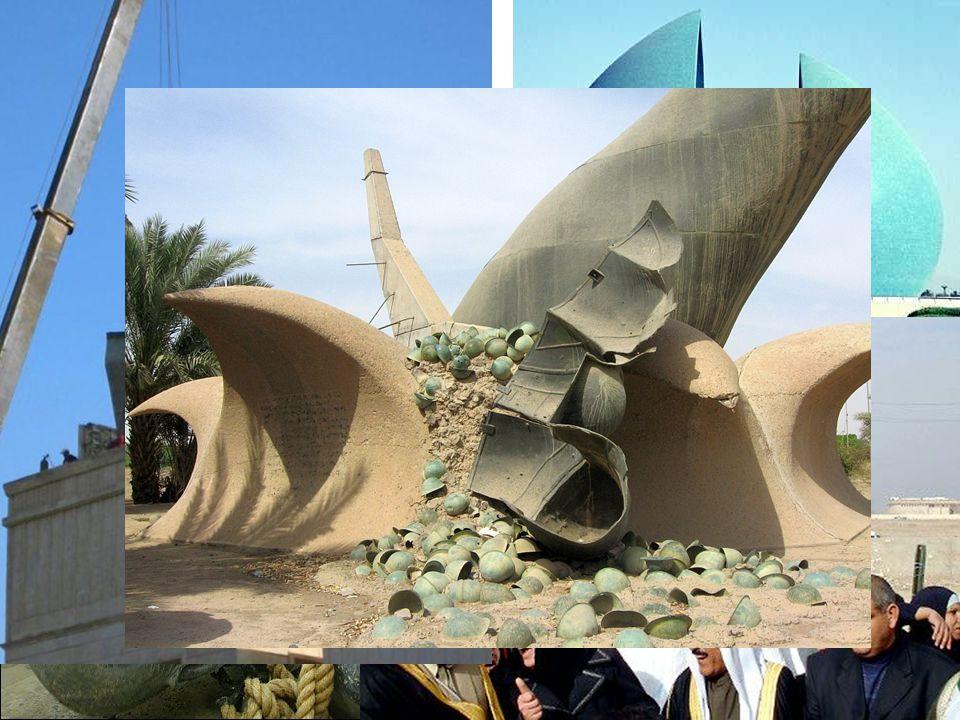 Al-Shaheed Monument (1983), Baghdad, Irak, jern, beton, bronze, kakler, bemaling