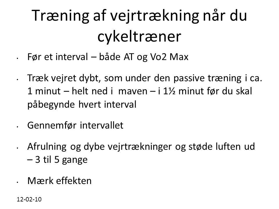 Træning af vejrtrækning når du cykeltræner