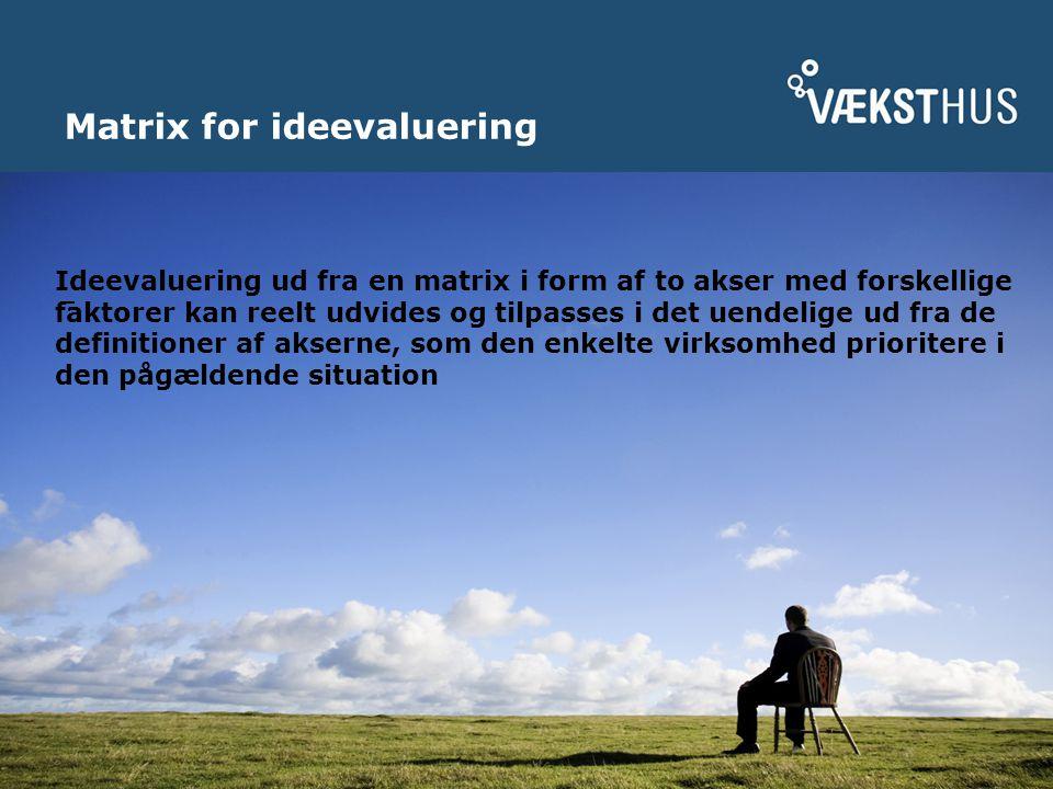 Matrix for ideevaluering