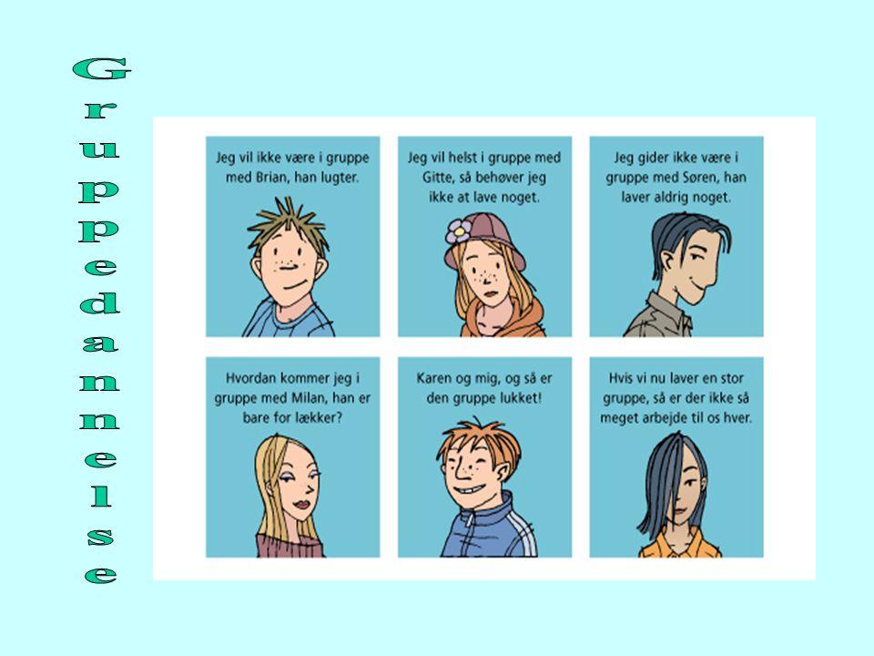 Gruppedannelse Hvis man arbejder med nævnte metode til valg af overemne og delemne, er grupperne muligvis blevet til i processen.